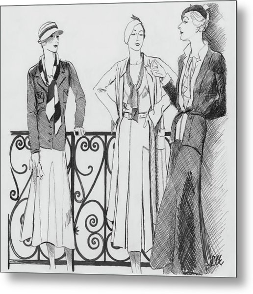 Women Wearing Molyneux Metal Print by Creelman