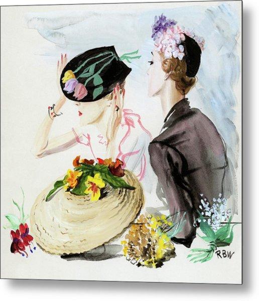 Women Wearing Suzy Hats Metal Print