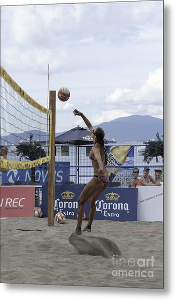 Women's Volleyball Game Metal Print