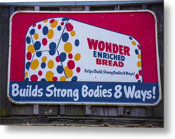 Wonder Bread Sign Metal Print