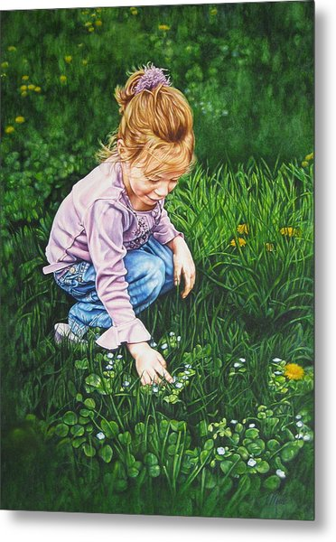 Wonder In A Wildflower Metal Print