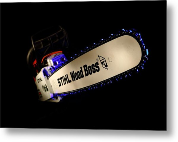Wood Boss Metal Print