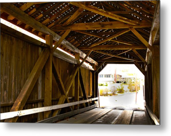Wood Fame Bridge Metal Print