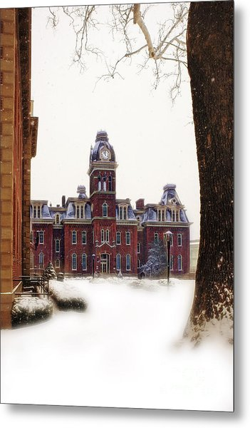 Woodburn Blowing Snow Metal Print