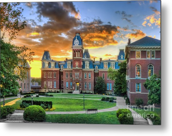 Woodburn Hall Evening Sunset Metal Print