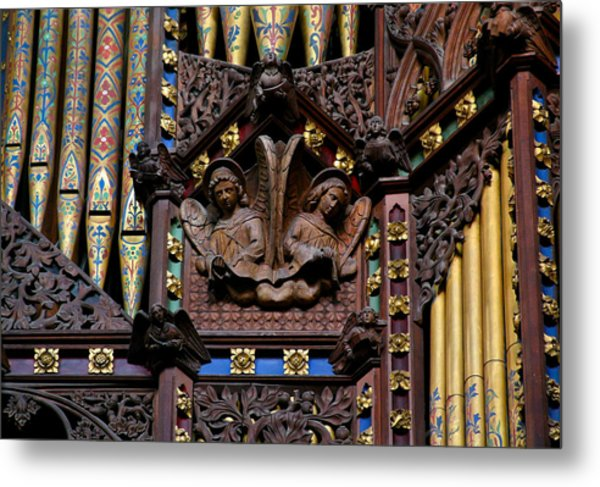Wooden Angels Ely Cathedral Metal Print