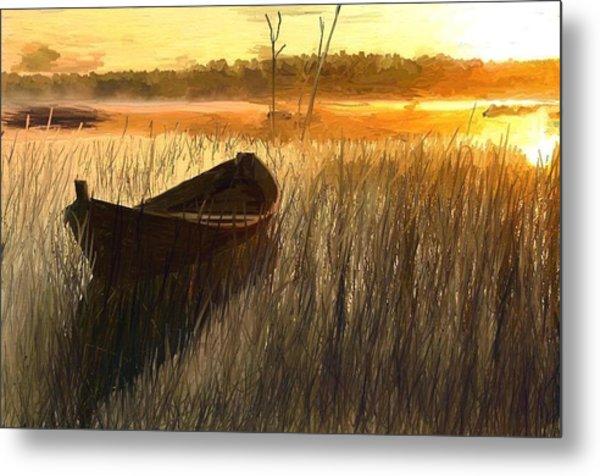 Wooden Boat Finland Metal Print