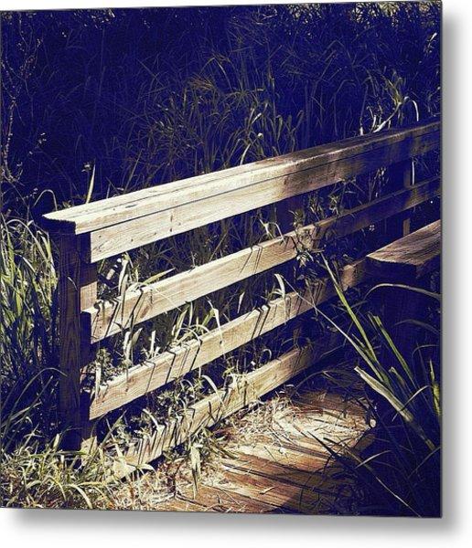 Wooden Bridge Metal Print by Beth Williams