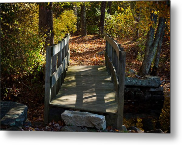 Wooden Bridge - Ledyard Sawmill Metal Print