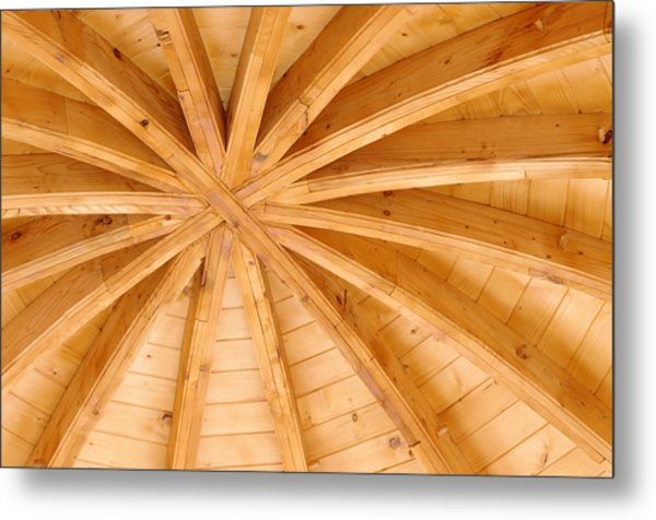 Wooden Ceiling  Metal Print by Ioan Panaite