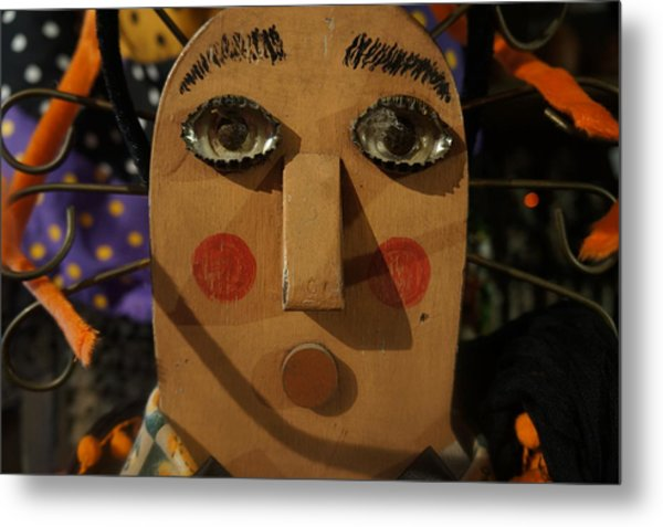 Wooden Face Metal Print