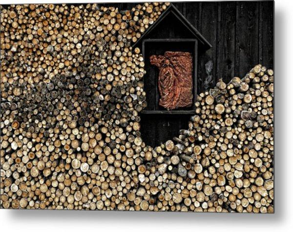 Wooden Madonna Metal Print