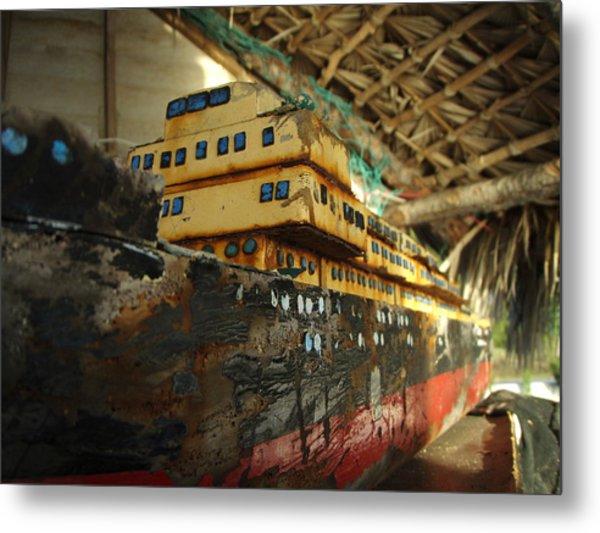 Wooden Ships Metal Print