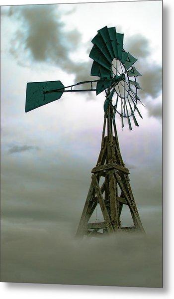 Wooden Windmill Metal Print