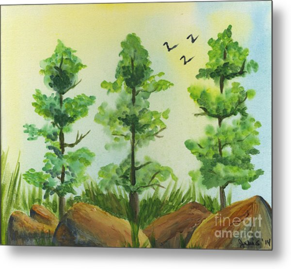 Woodland Guards Metal Print