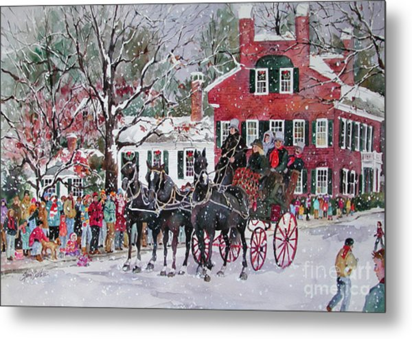 Woodstock Wassail Parade Metal Print by Sherri Crabtree