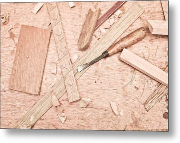 Woodwork Metal Print