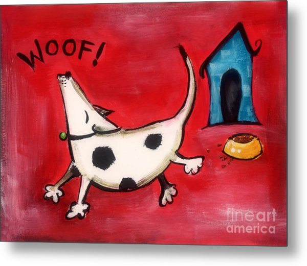 Woof Metal Print by Diane Smith