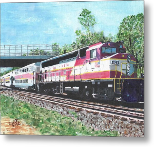 Worcester Bound T Train Metal Print