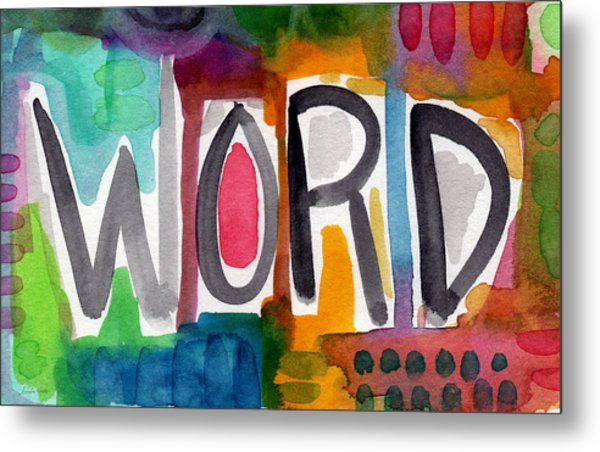 Word- Colorful Abstract Pop Art Metal Print