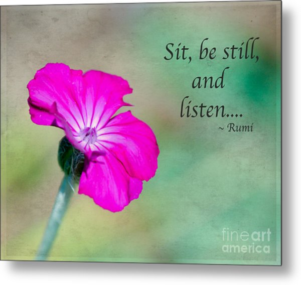 Words From Rumi Metal Print