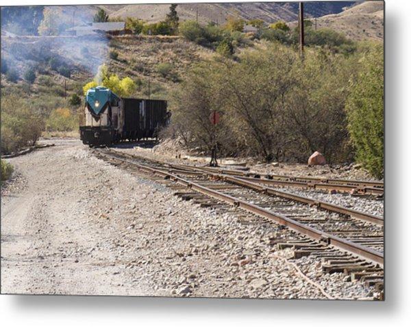 Work Train In Clarkdale Arizona Metal Print