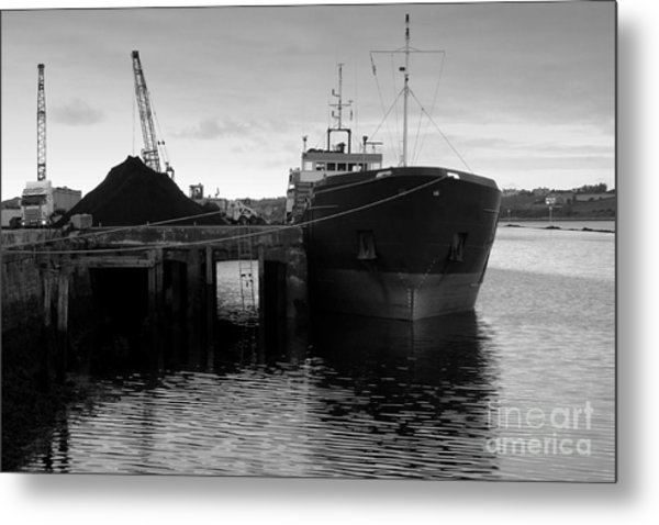 Working Harbour Metal Print by Frank Anthony Lynott