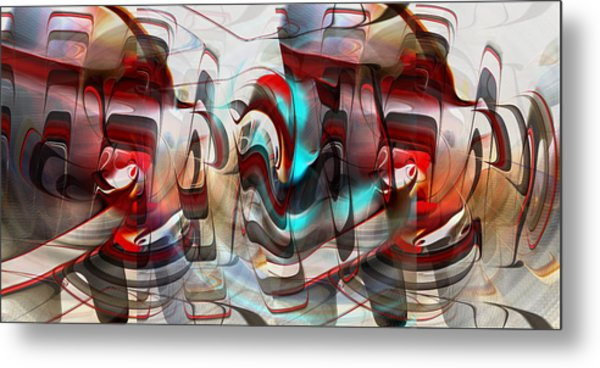 Metal Print featuring the digital art Working Machine In Color by rd Erickson