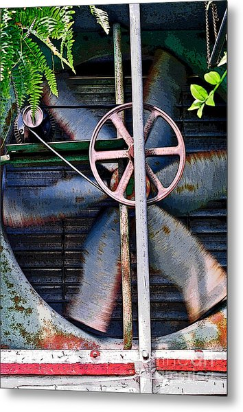 Metal Print featuring the photograph Working Old Fan by Kristi Swift