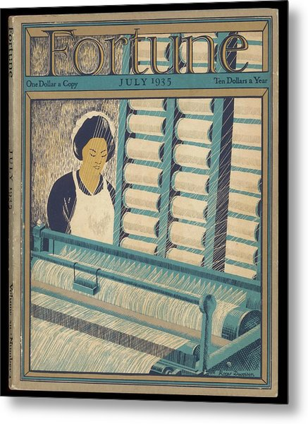 Working On A Cotton Loom          Date Metal Print by Mary Evans Picture Library