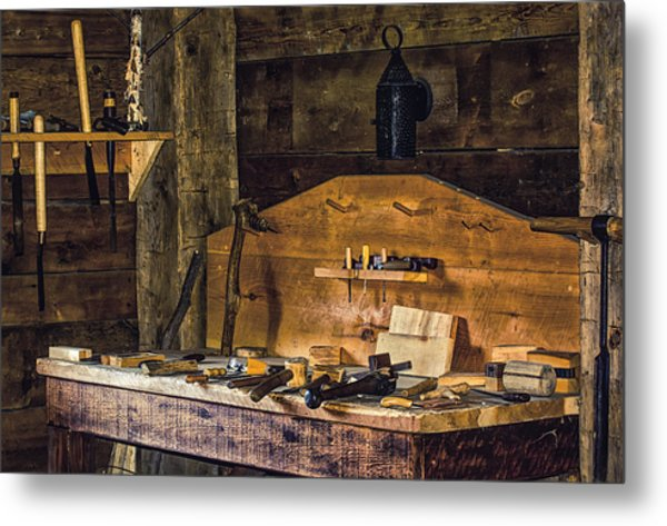 Workman's Bench Metal Print