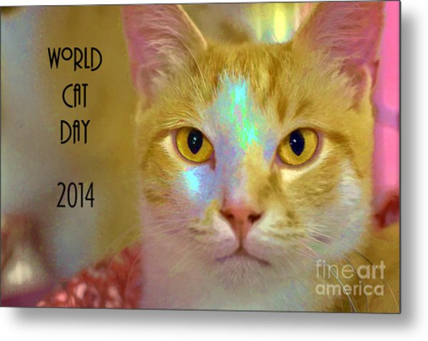 World Cat Day Metal Print