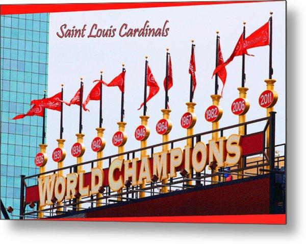 World Champions Flags Metal Print