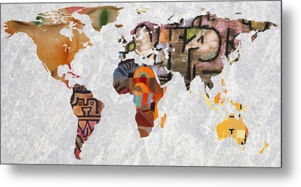 World Map   Paul Klee 3 Metal Print