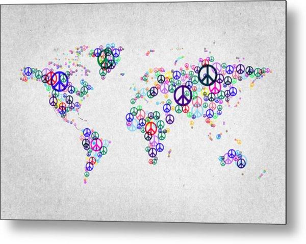 World Peace Map Metal Print