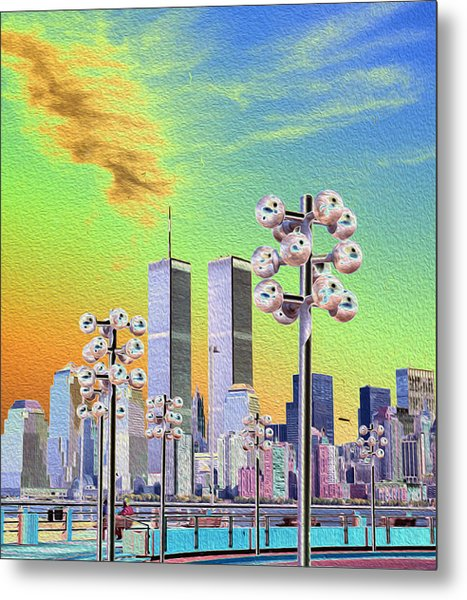World Trade Center From Nj Terminal Metal Print