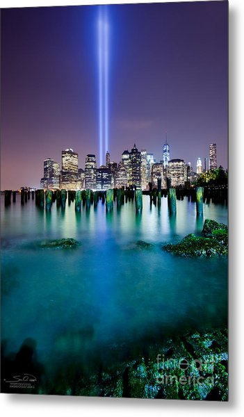 World Trade Center From The Ground Up Metal Print
