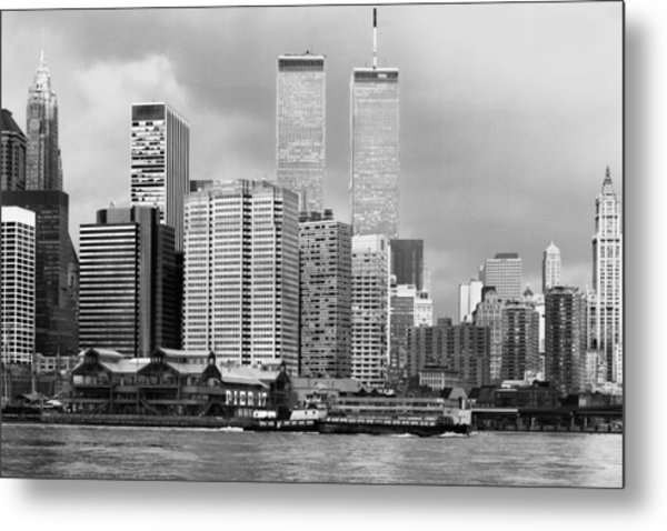 New York City - World Trade Center - Vintage Metal Print