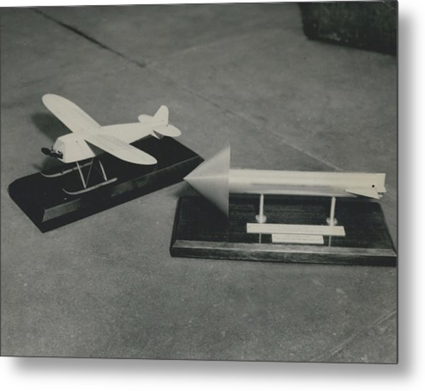 World�s First Guided Missile Control Gear Handed Over To Metal Print by Retro Images Archive