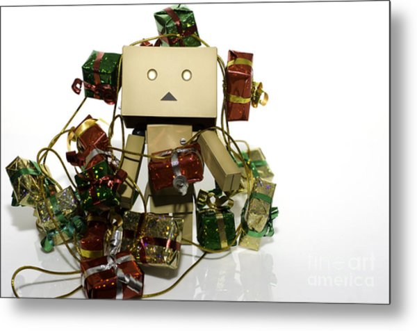 Wrapped In The Holidays Metal Print