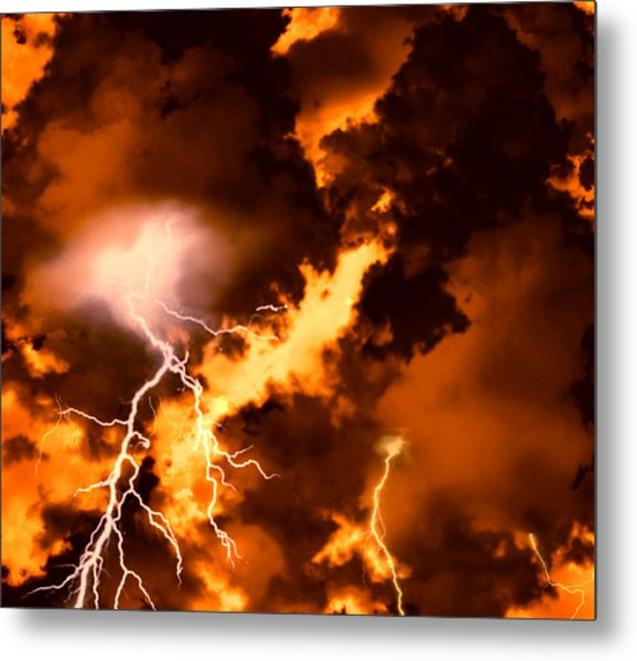 Wrath Of Zeus Metal Print