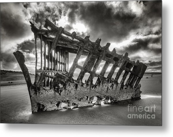 Wreck On The Shore Metal Print by Melody Watson