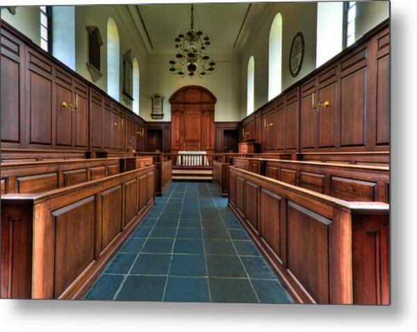 Wren Chapel Interior Metal Print