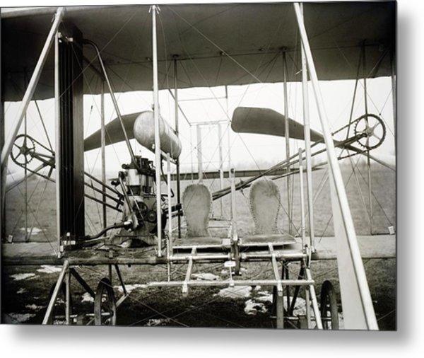 Wright Biplane Engine And Seats Metal Print