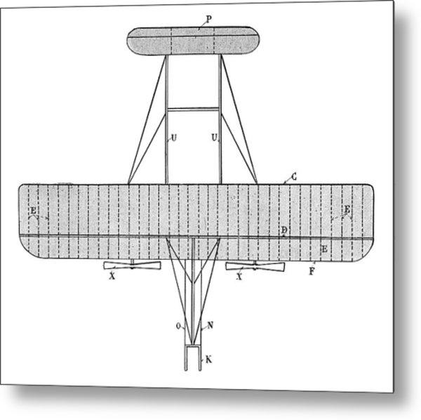 Wright Biplane Metal Print