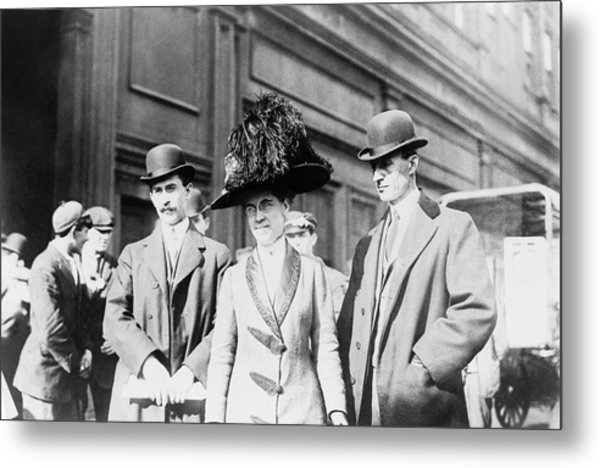 Wright Brothers And Sister Metal Print