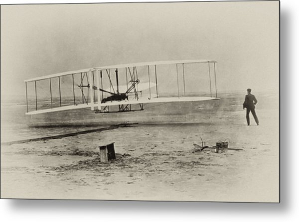 Wright Brothers - First In Flight Metal Print