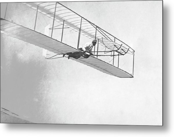 Wright Brothers' Glider Metal Print