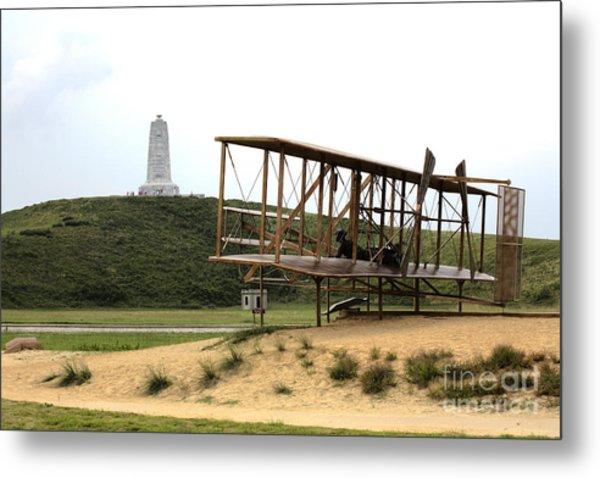 Wright Brothers Memorial At Kitty Hawk Metal Print