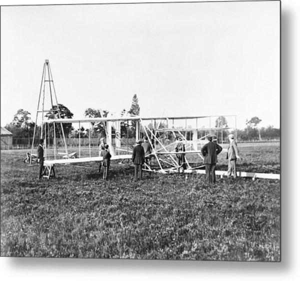 Wright Flyer II-iii And Catapult Metal Print